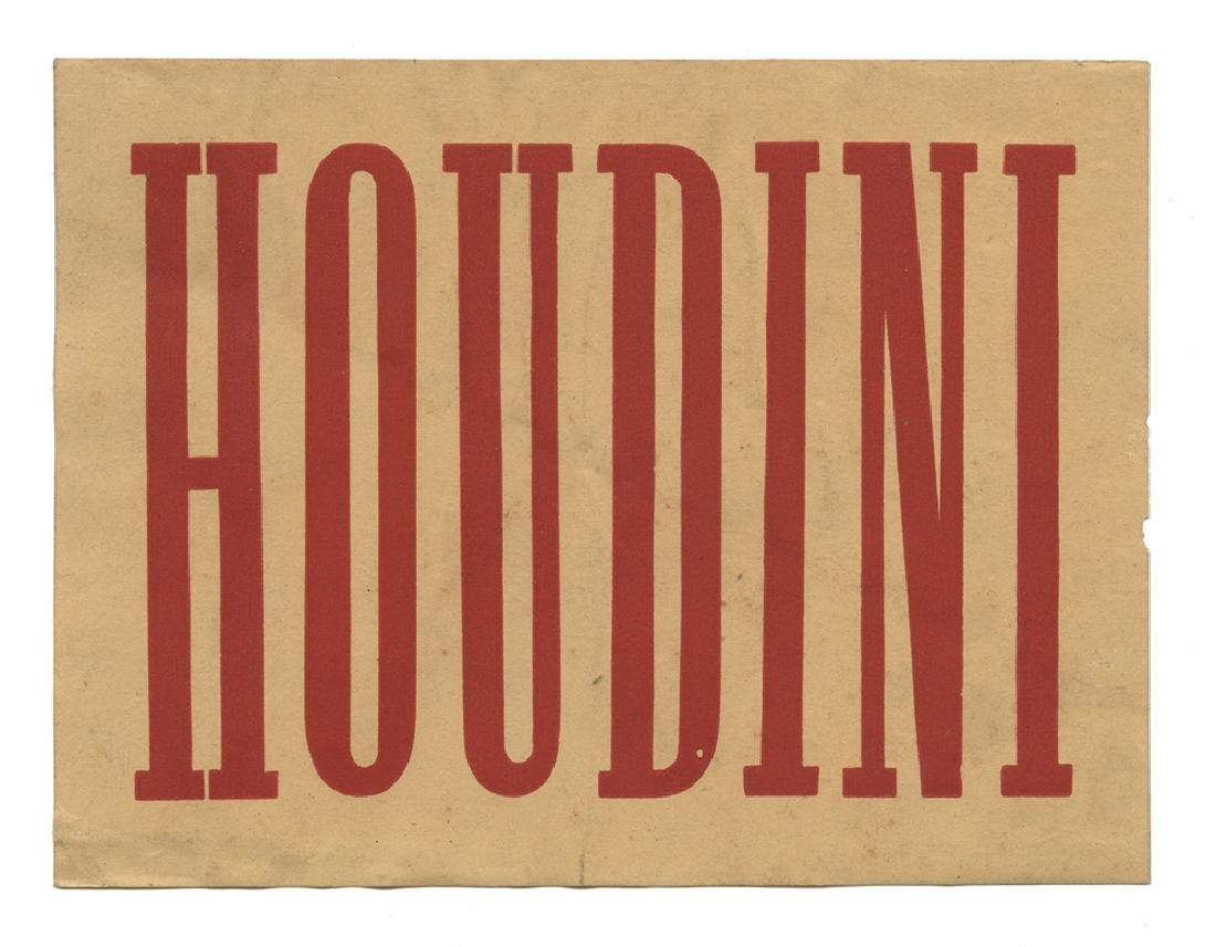 Houdini Luggage Label.