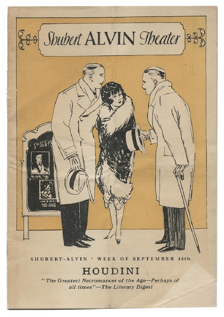 Houdini Theatrical Program, Pittsburgh.