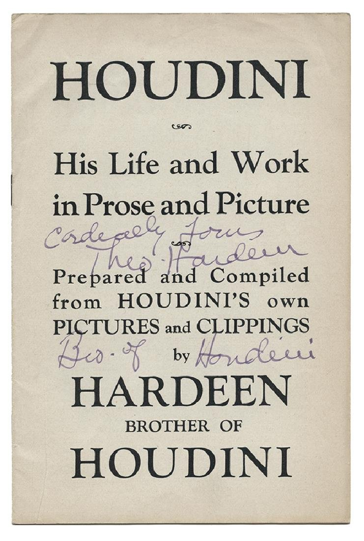 Houdini: His Life and Work in Prose and Picture.
