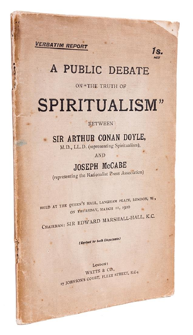 A Public Debate on the Truth of Spiritualism. Between