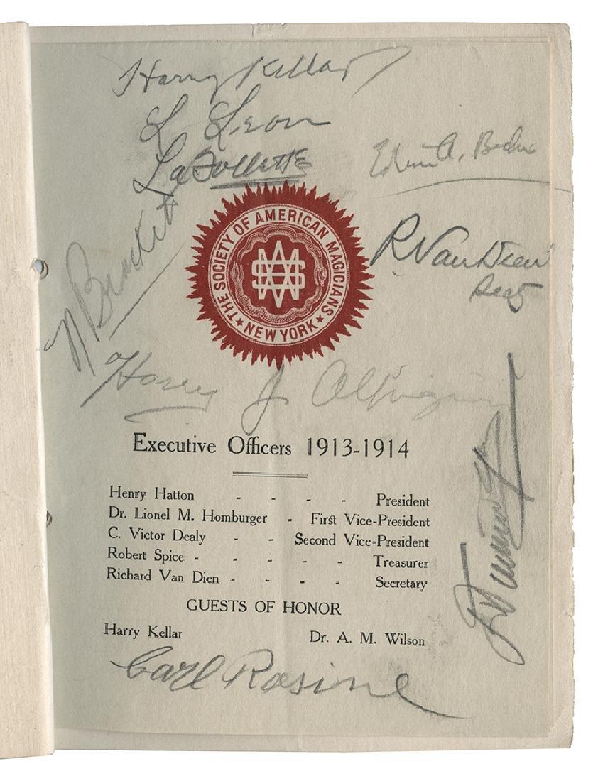 Autographed 1914 S.A.M. Program.