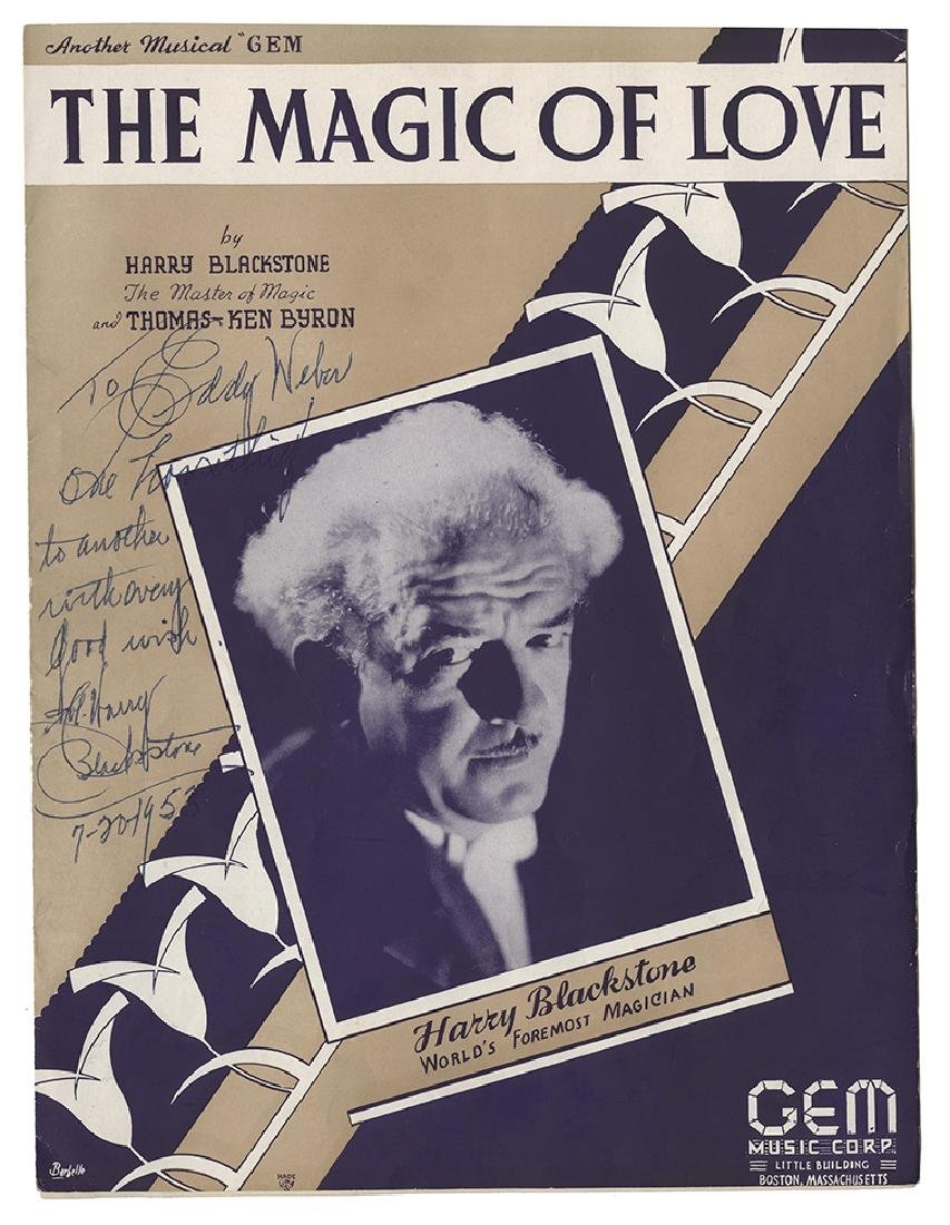 """The Magic of Love"" Sheet Music Signed by Harry"