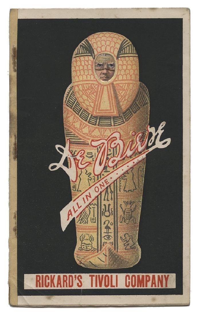 "De Biere ""All in One"" Souvenir Costume-Change Pamphlet."