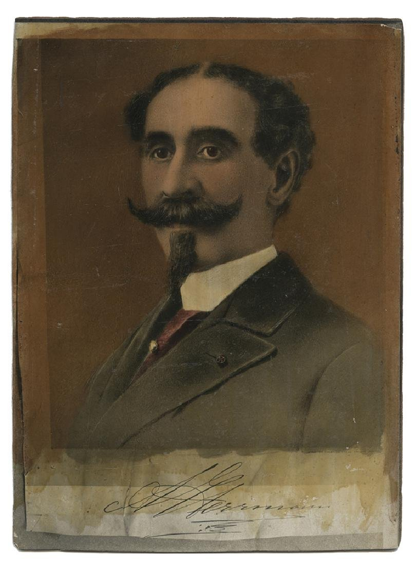 Hand-colored Portrait of Alexander Herrmann.