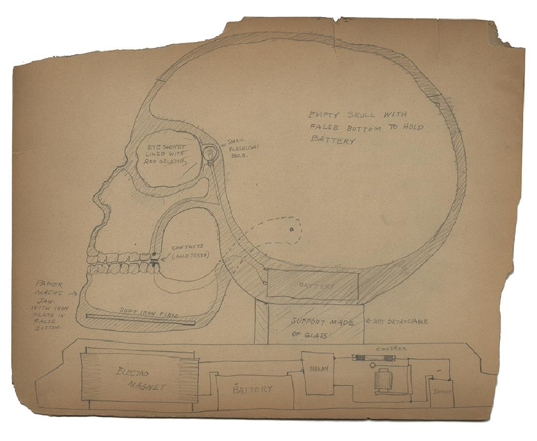 Schematic Drawing of an Electronic Talking Skull by