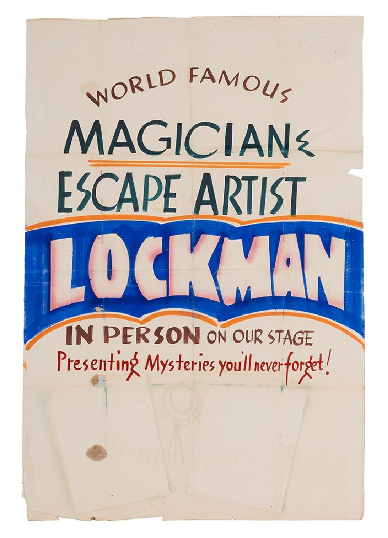 Original Earl Lockman Escape Act Poster, and Other