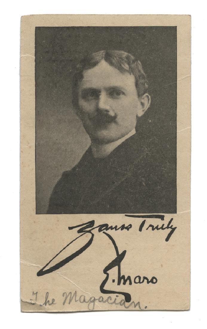 E.J. Maro Lyon & Healy Trade Card.