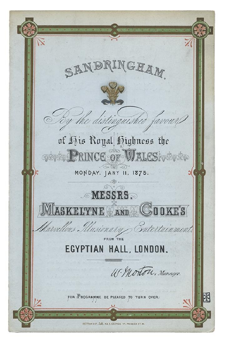 Royal Command Performance for Maskelyne & Cooke.