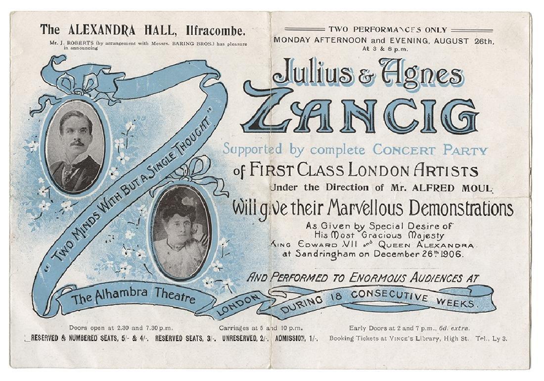 Three RPPCs and Other Memorabilia of The Zancigs.