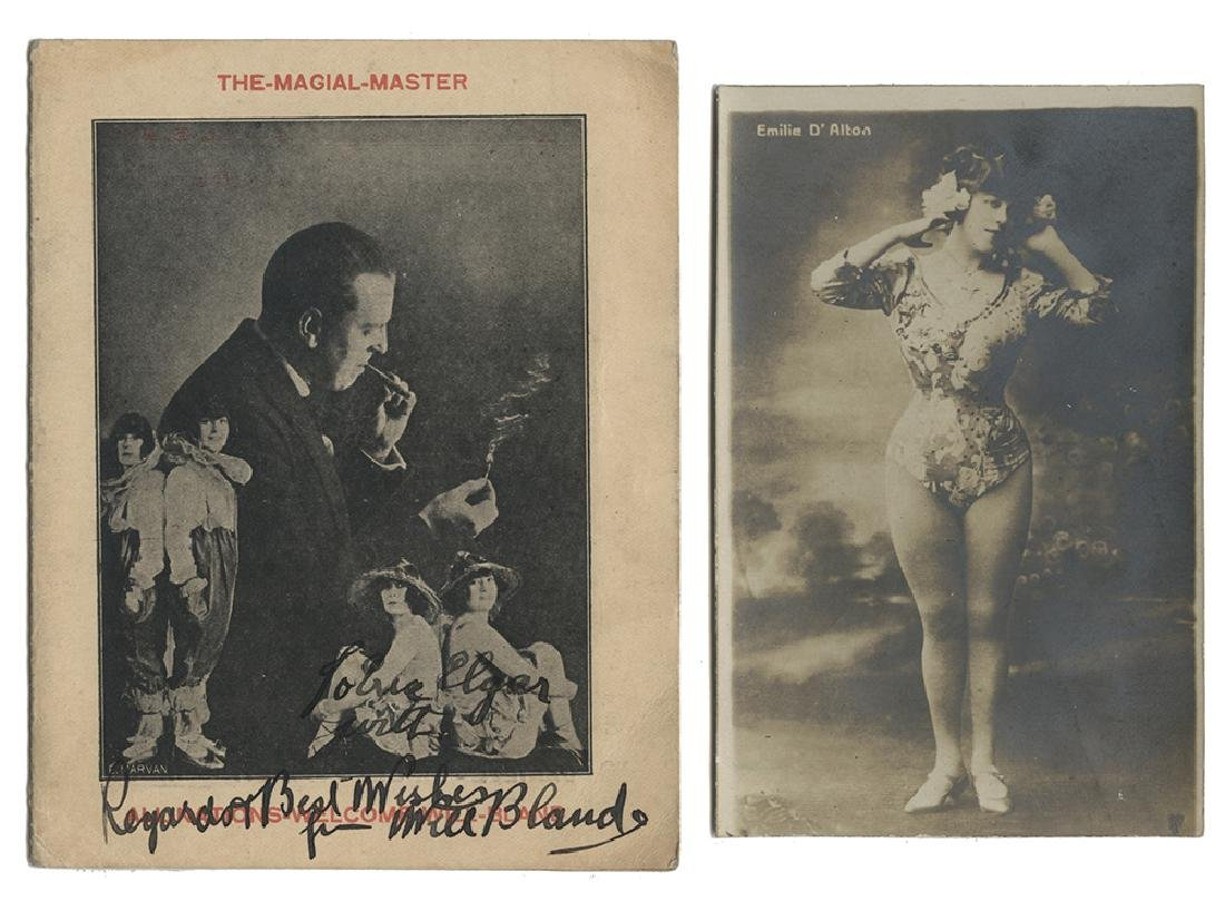 Group of 1920s—30s Magicians Letters, Postcards, and