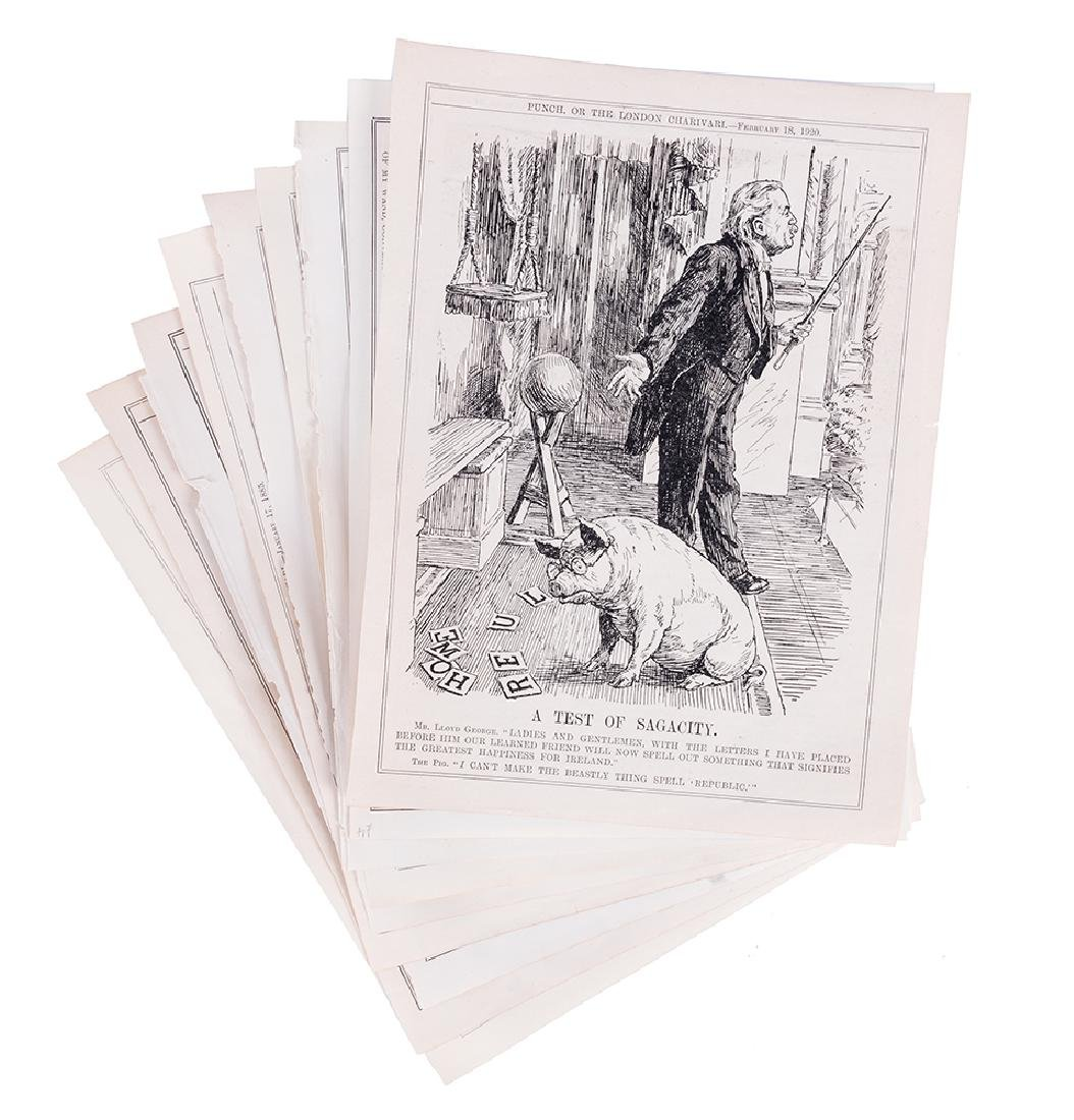 Group of Magic-Related Illustrations from Punch.