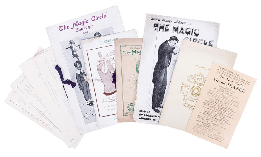 Collection of 10 Magic Circle Grand Séance Programs.