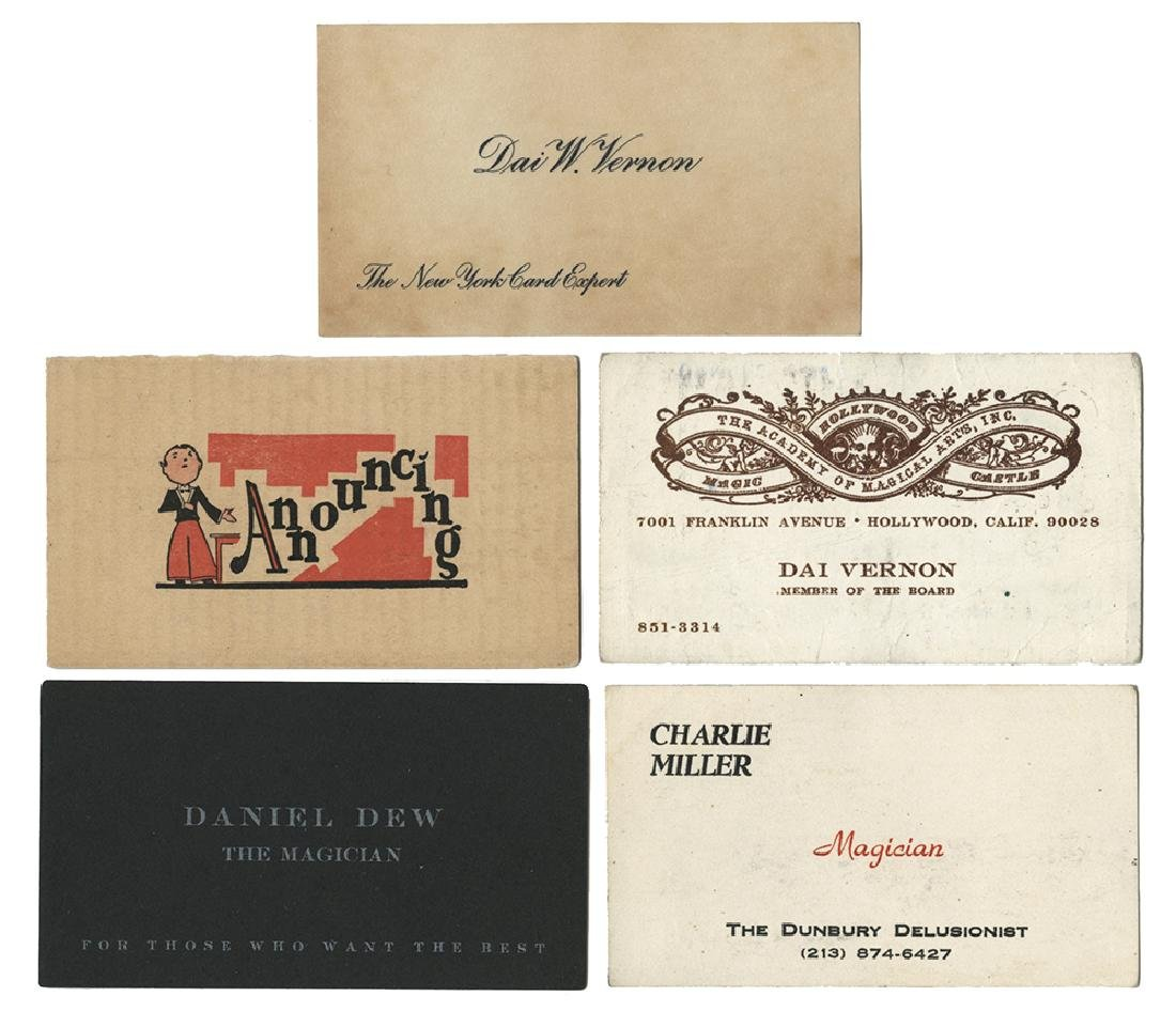 Group of Magicians' Business Cards.