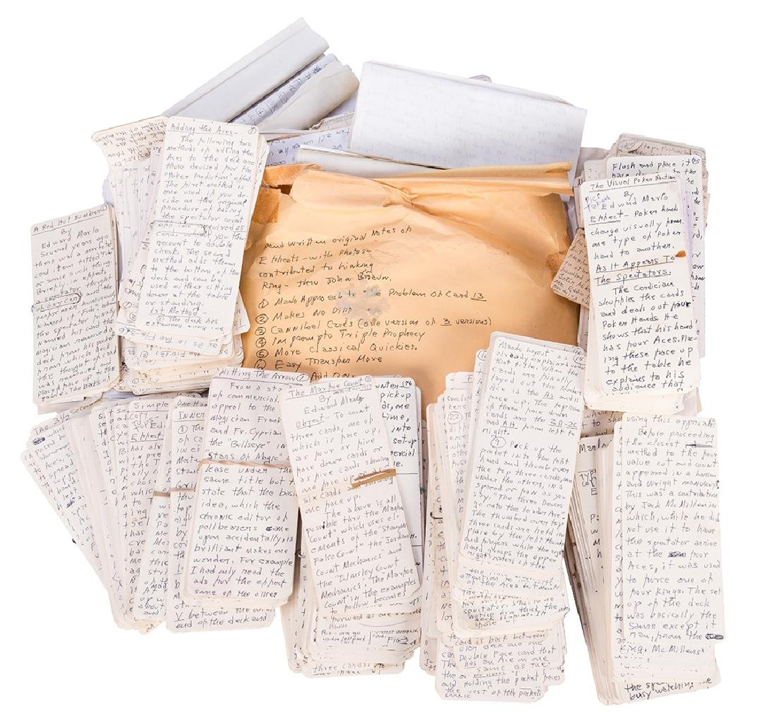 Marlo's File Tag Card Trick Manuscript Archive.