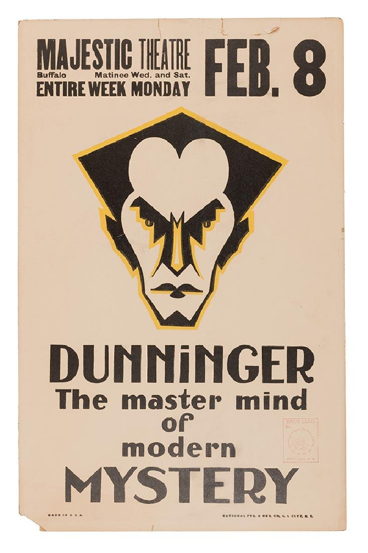 Joseph Dunninger. The Master Mind of Modern Mystery.