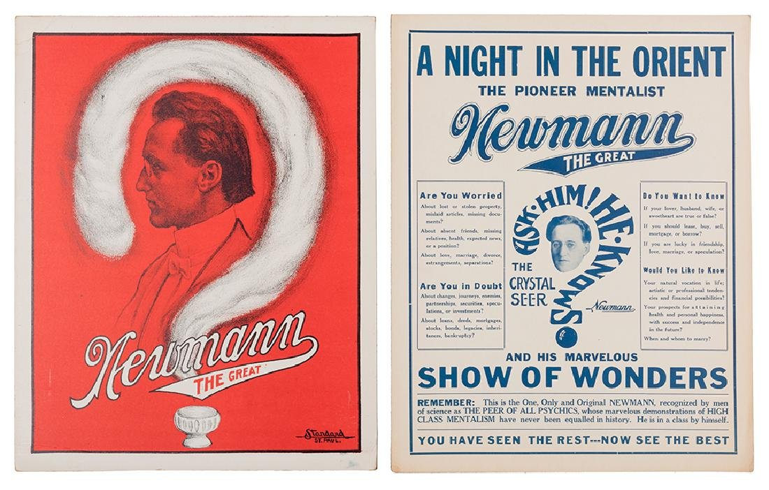 Newmann the Great. Lot of Two Window Cards.