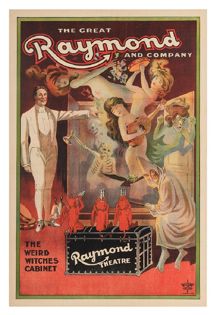 The Great Raymond. The Weird Witches Cabinet.