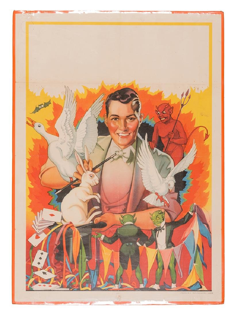 Erie Litho Magician Stock Poster.