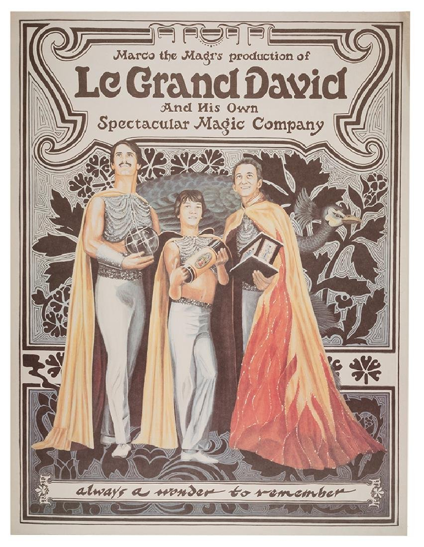 Group of 19 Posters for Le Grand David.