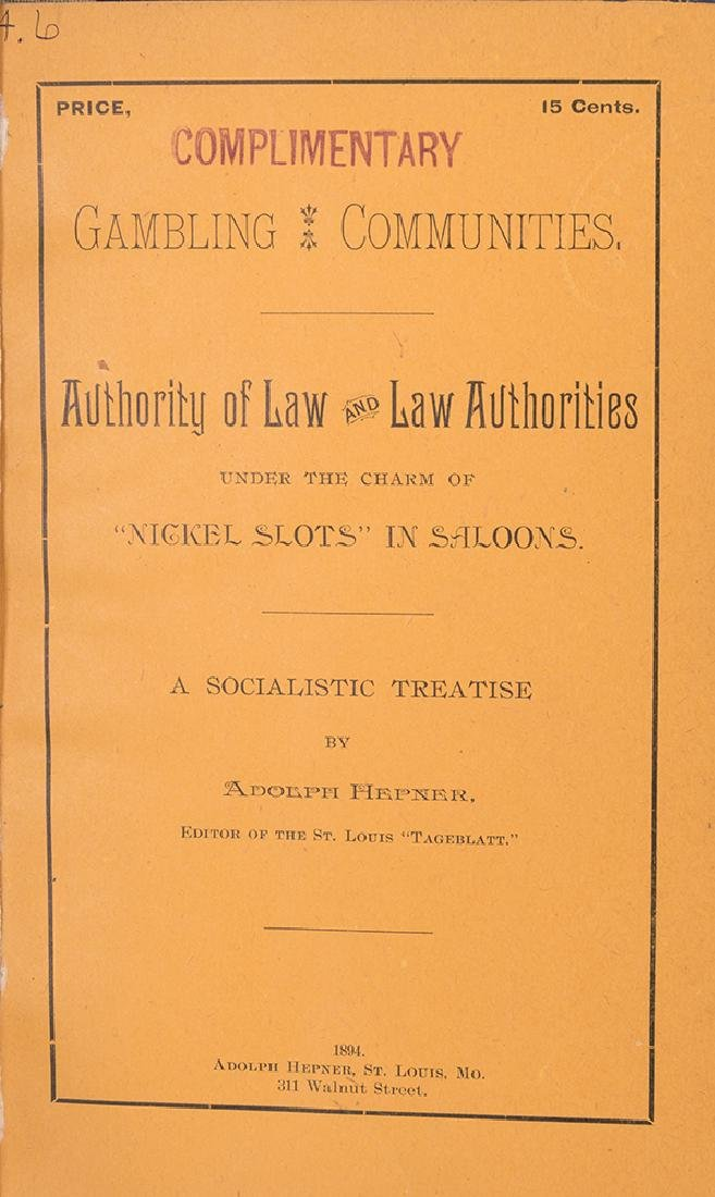 Gambling Communities, Authority of Law and Law