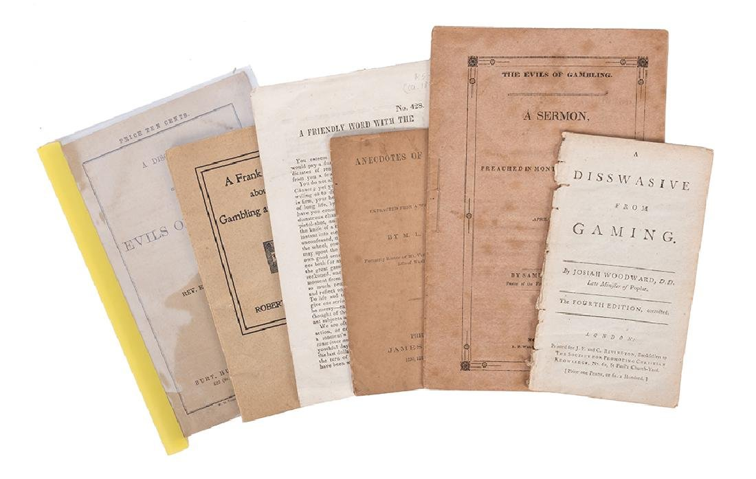 Six Publications Regarding the Evils of Gambling.