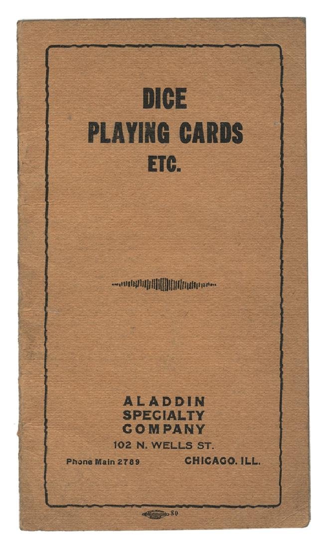 Aladdin Specialty Company Dice & Playing Card Catalog.