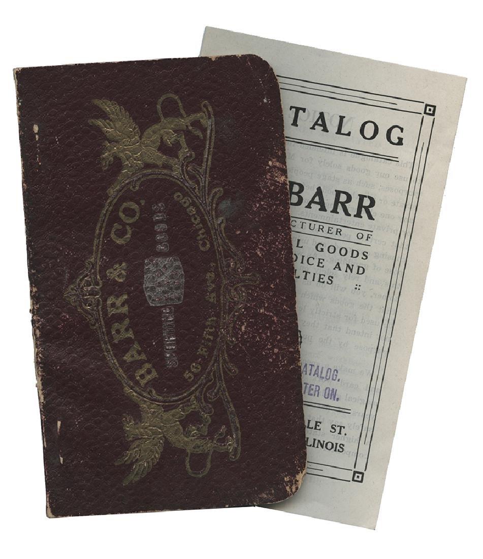 Barr & Co. Two Gambling Catalogs.