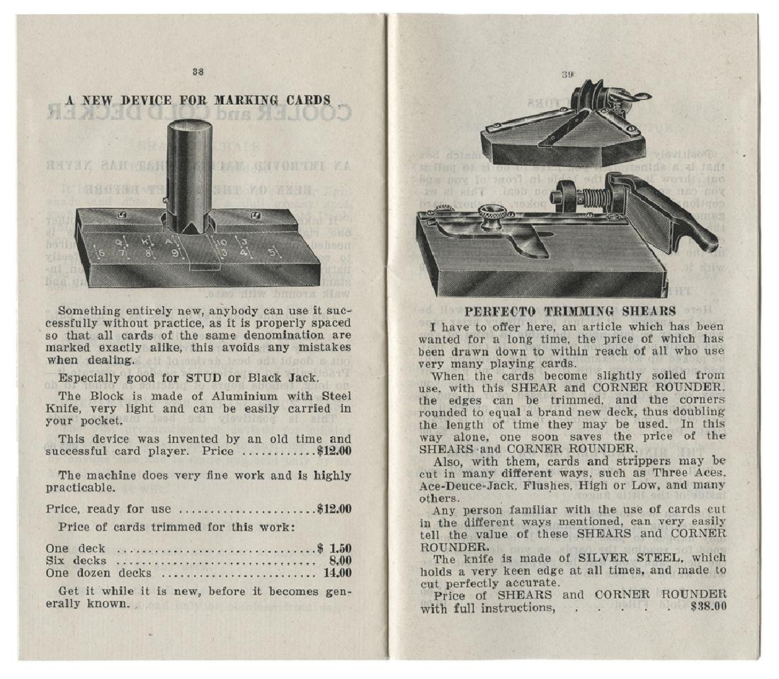 Barr & Co. Two Gambling Catalogs. - 2
