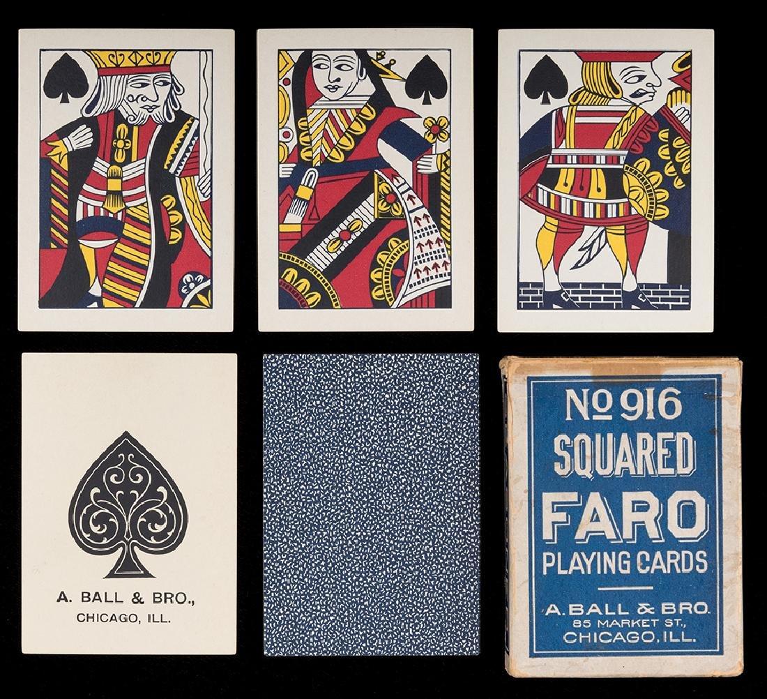 A. Ball & Bro. No. 916 Faro Playing Cards.