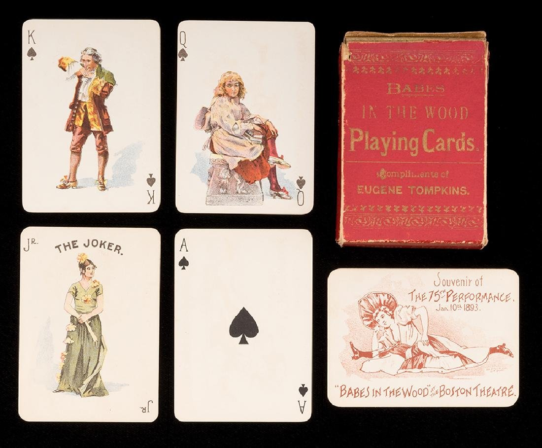"""""""Babes in the Wood"""" Theatrical Playing Cards."""