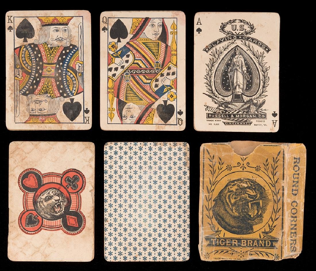 Tiger Brand Playing Cards.