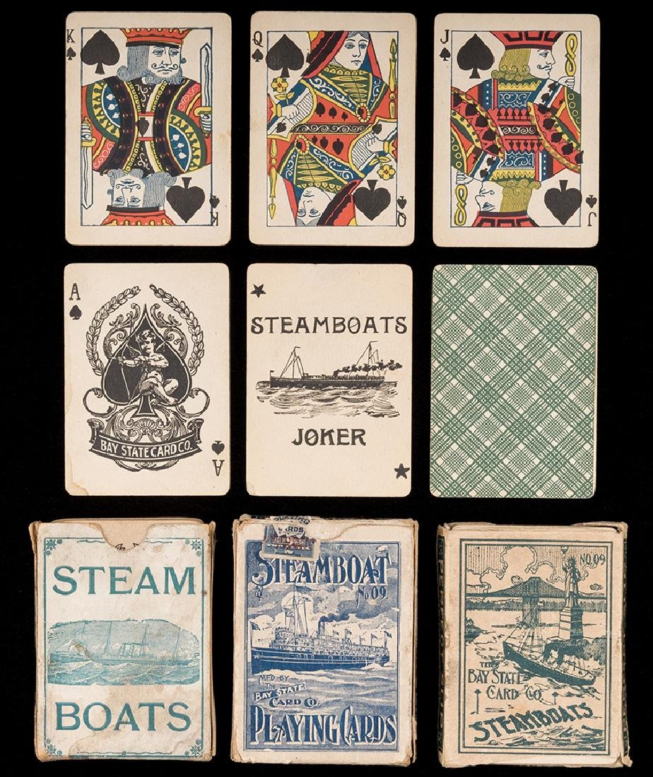 Three Steamboat No. 09 Decks Playing Cards.