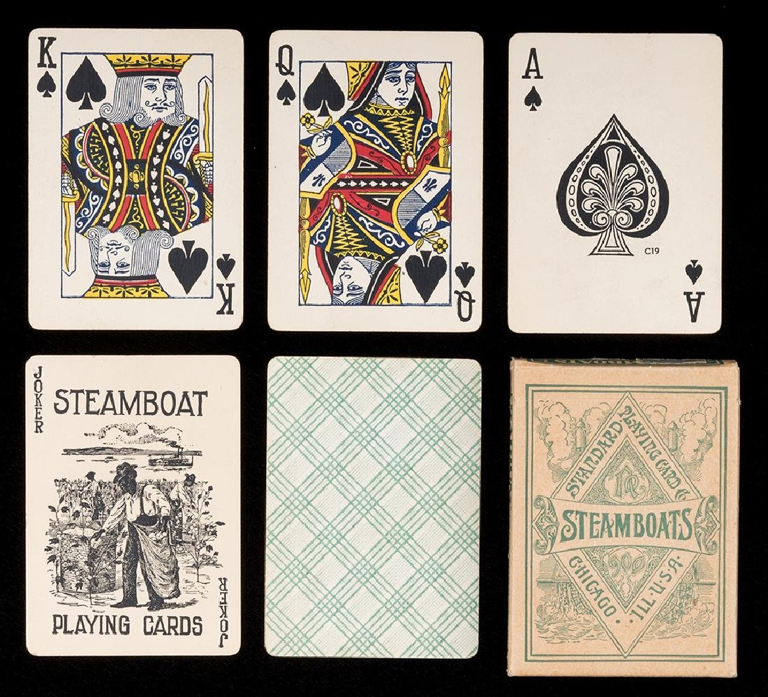 "Two Steamboat ""Radium"" Decks of Playing Cards."
