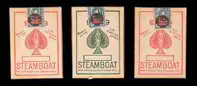 Three Steamboat 999 Decks Playing Cards