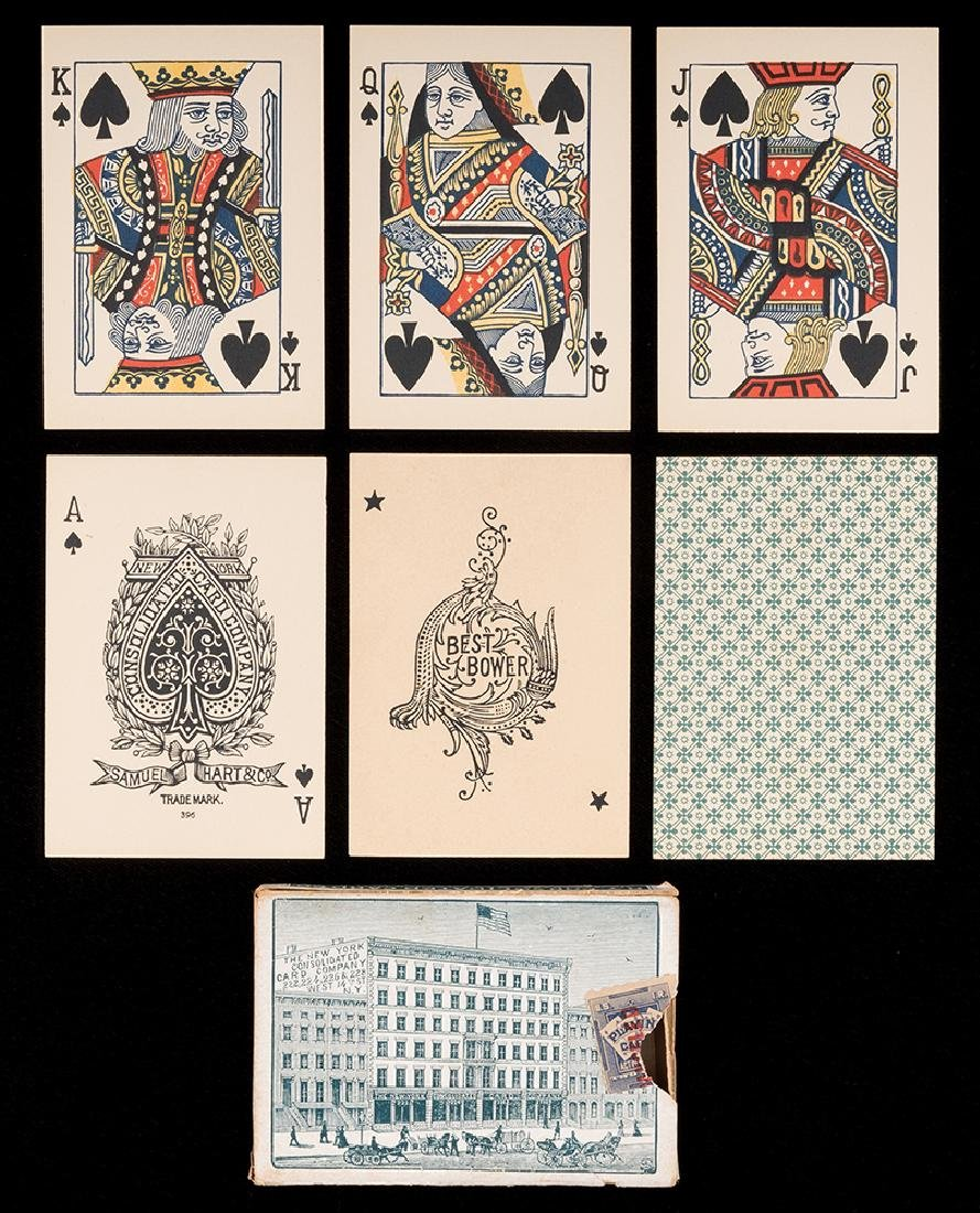 "Steamboat No. 19 ""Double Heads"" Playing Cards."