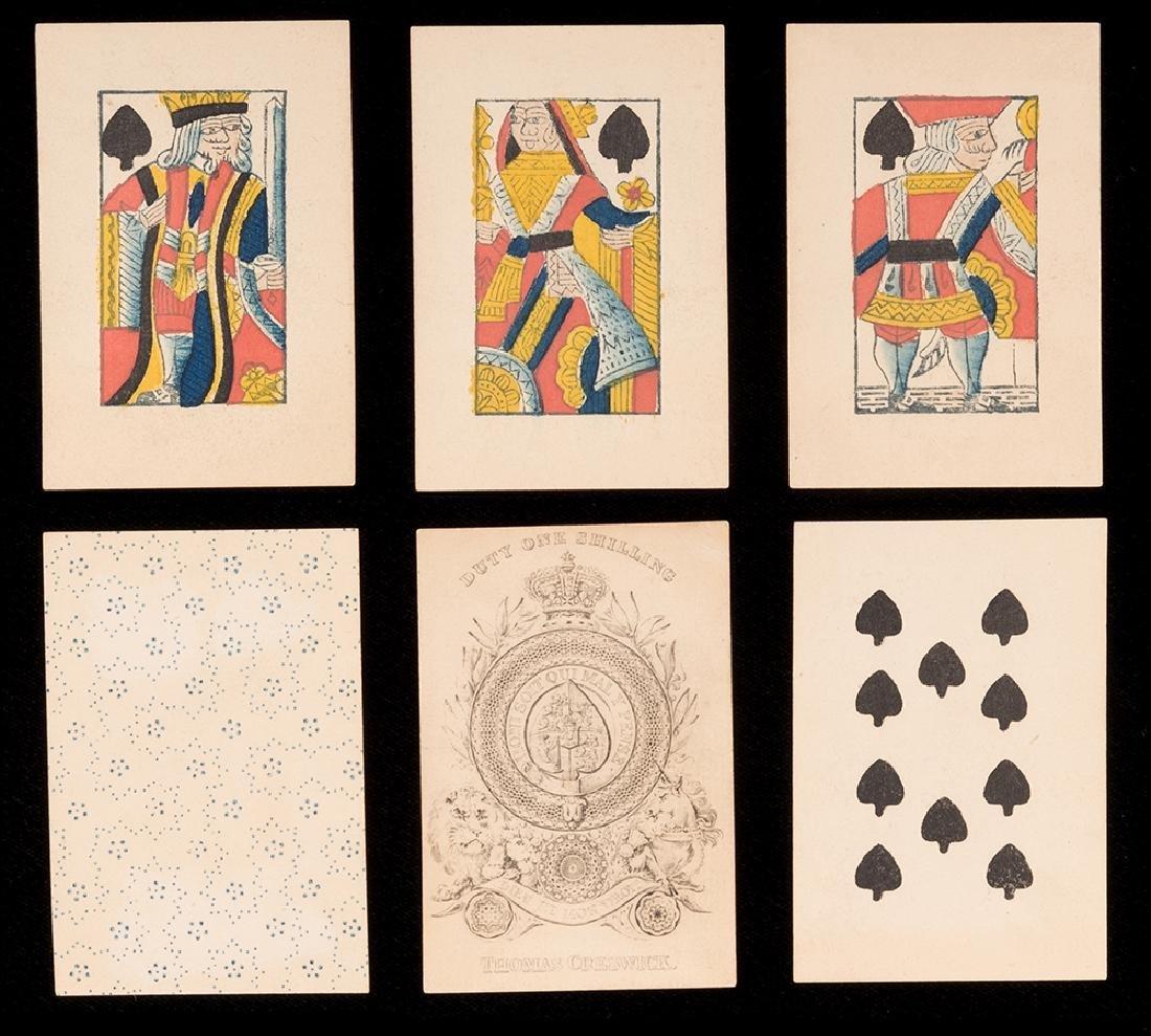 Thomas Creswick Portrait Playing Cards.