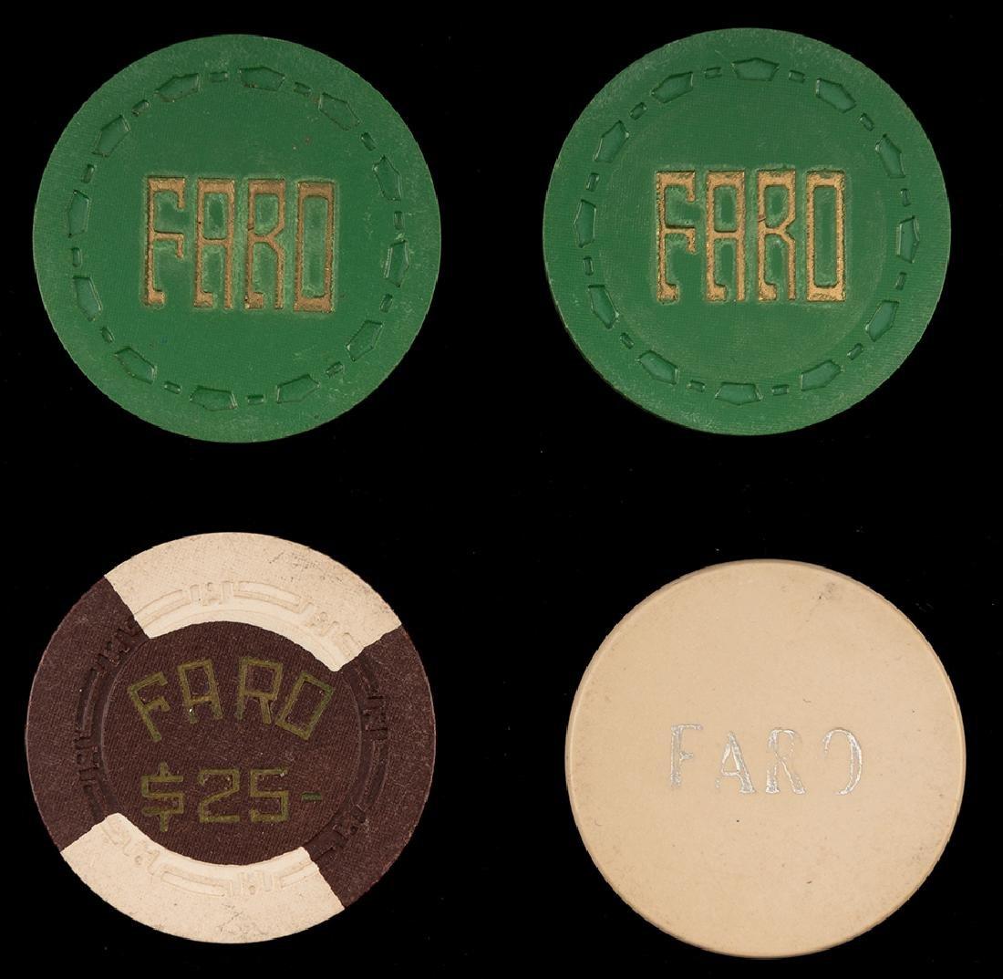 Four Miscellaneous Faro Chips.