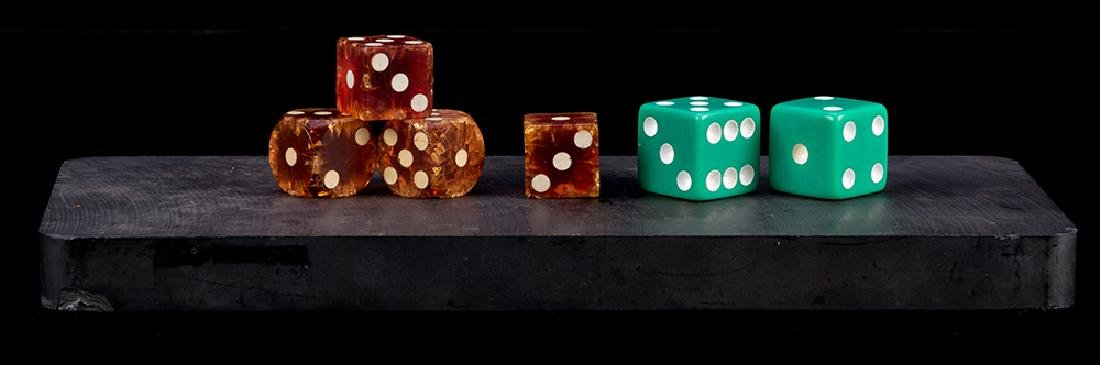 Three Pair of Magnetic Dice and Magnet.
