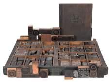 Gambling-Related Letterpress Printing Blocks.