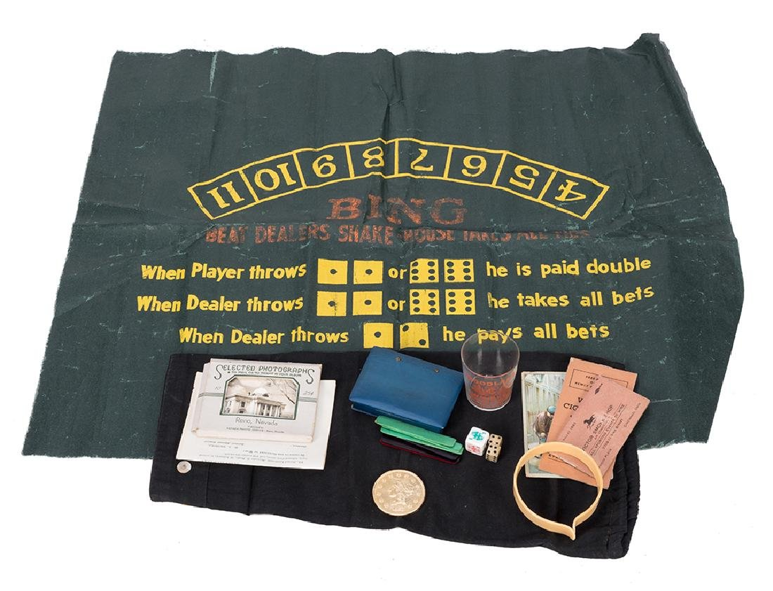 11 Miscellaneous Gambling-Related Pieces of Ephemera.
