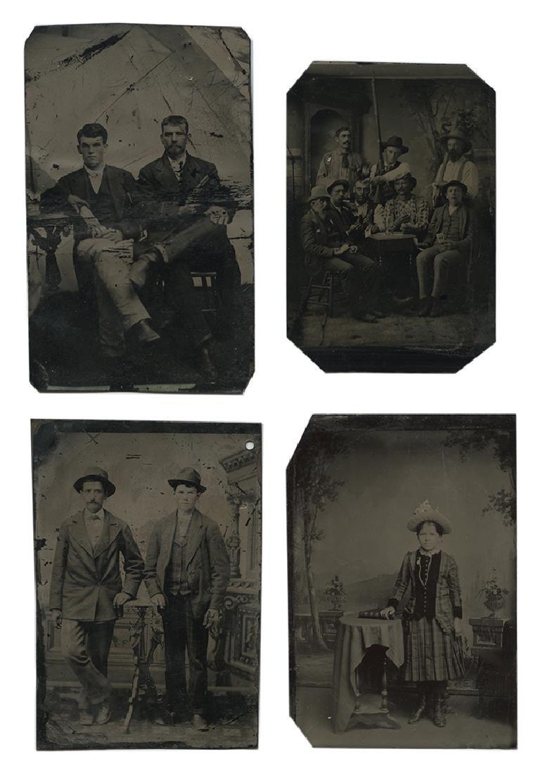 Nine Western Tintype Photographs. - 2