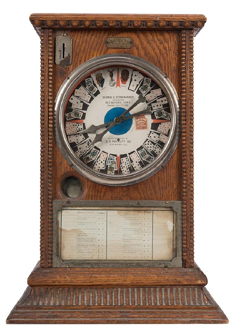 U.S. Novelty Co. 5 Cent Clockwork Trade Stimulator.