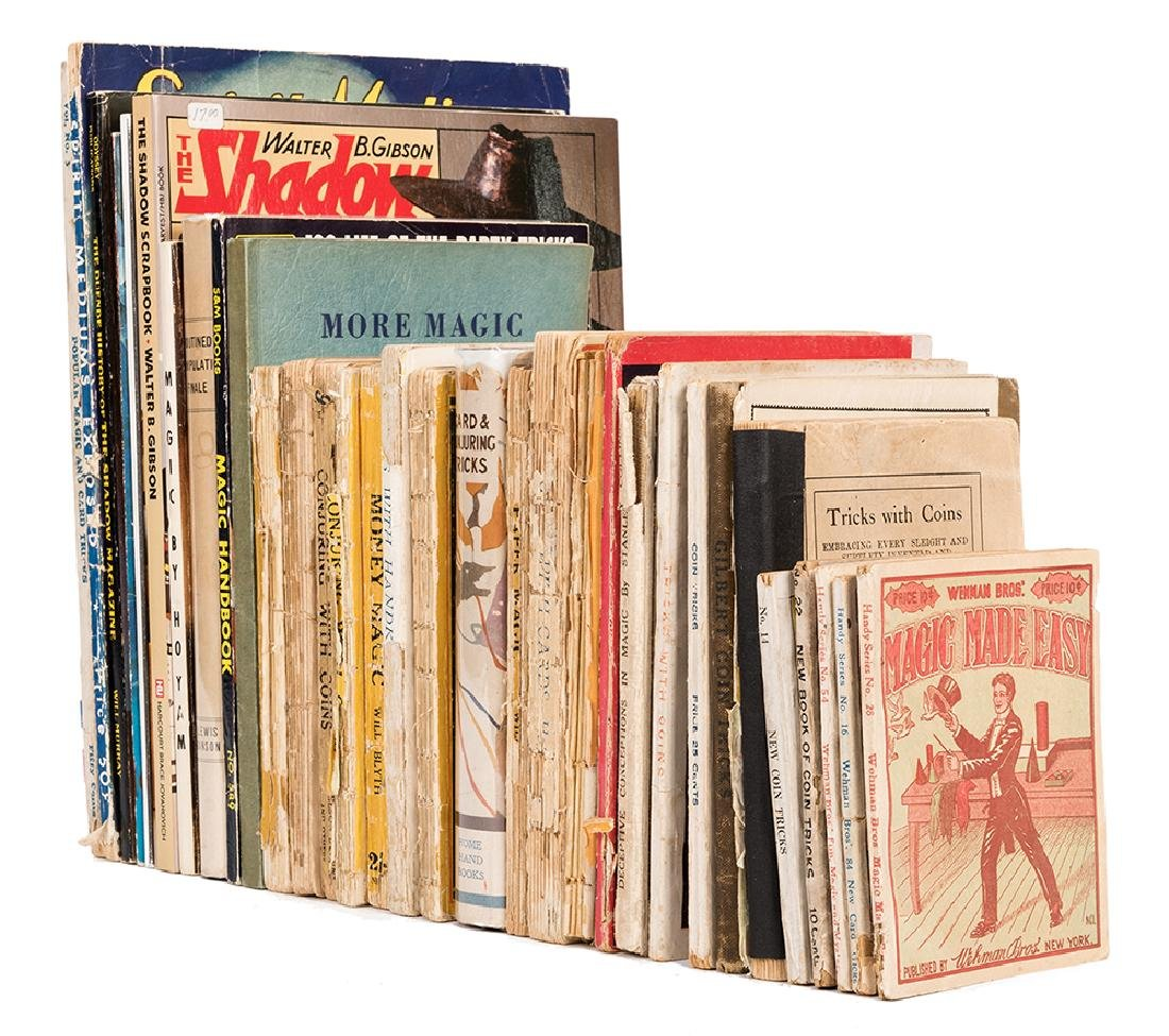 Over 30 Vintage and Pulp Magic Books.