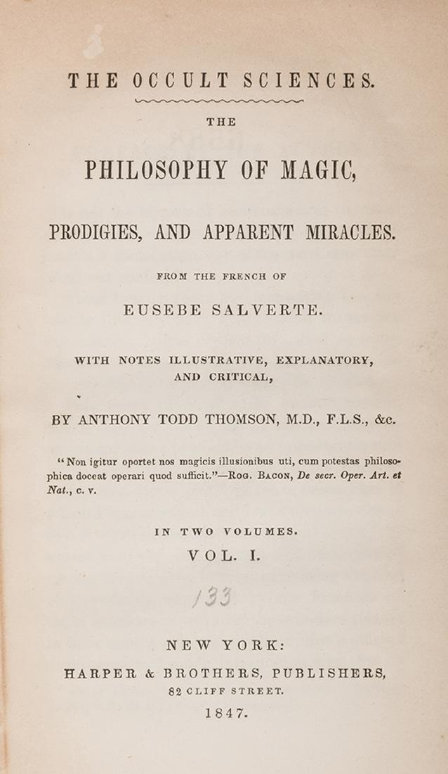 The Philosophy of Magic, Vols. I – II. - 2