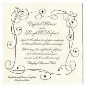 Hugh Hefner Wedding Invitation Packets, Two Letters,