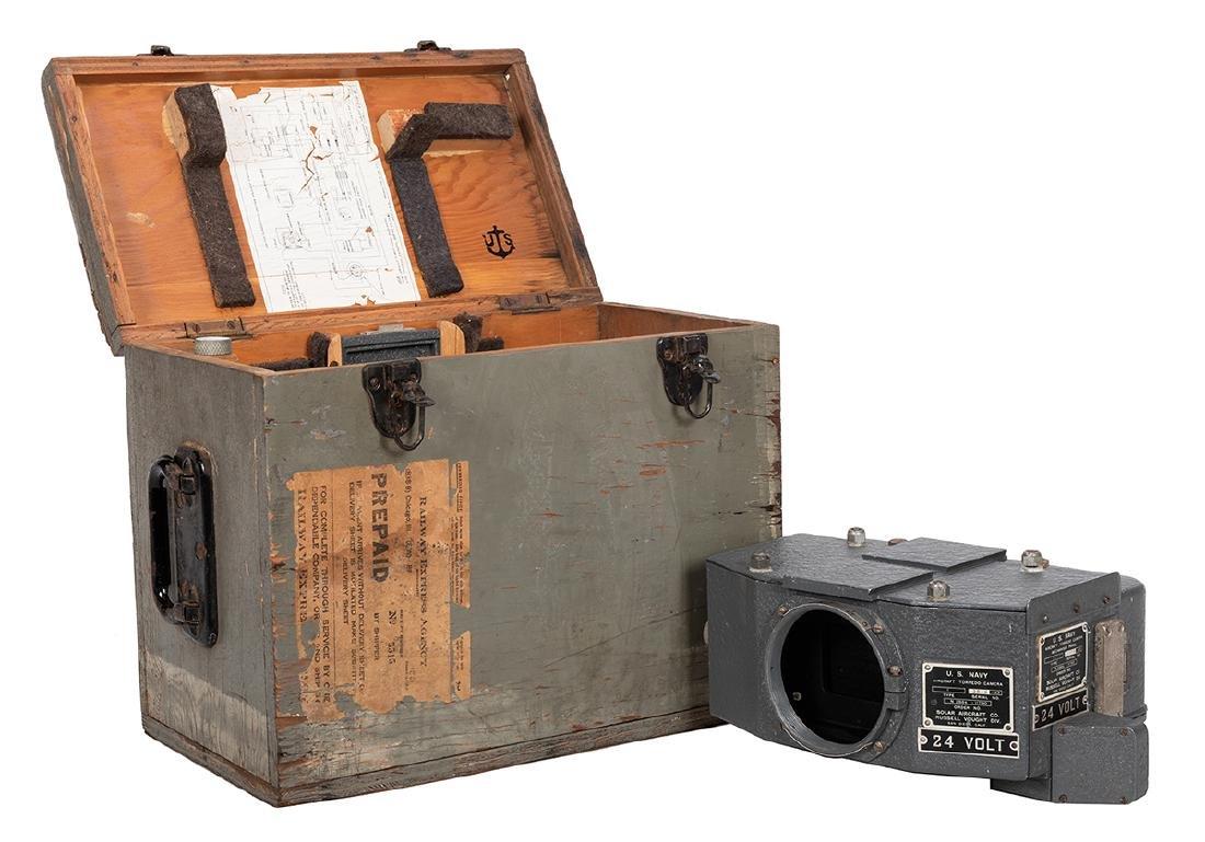 World War II Era US Army Aircraft Torpedo Camera.