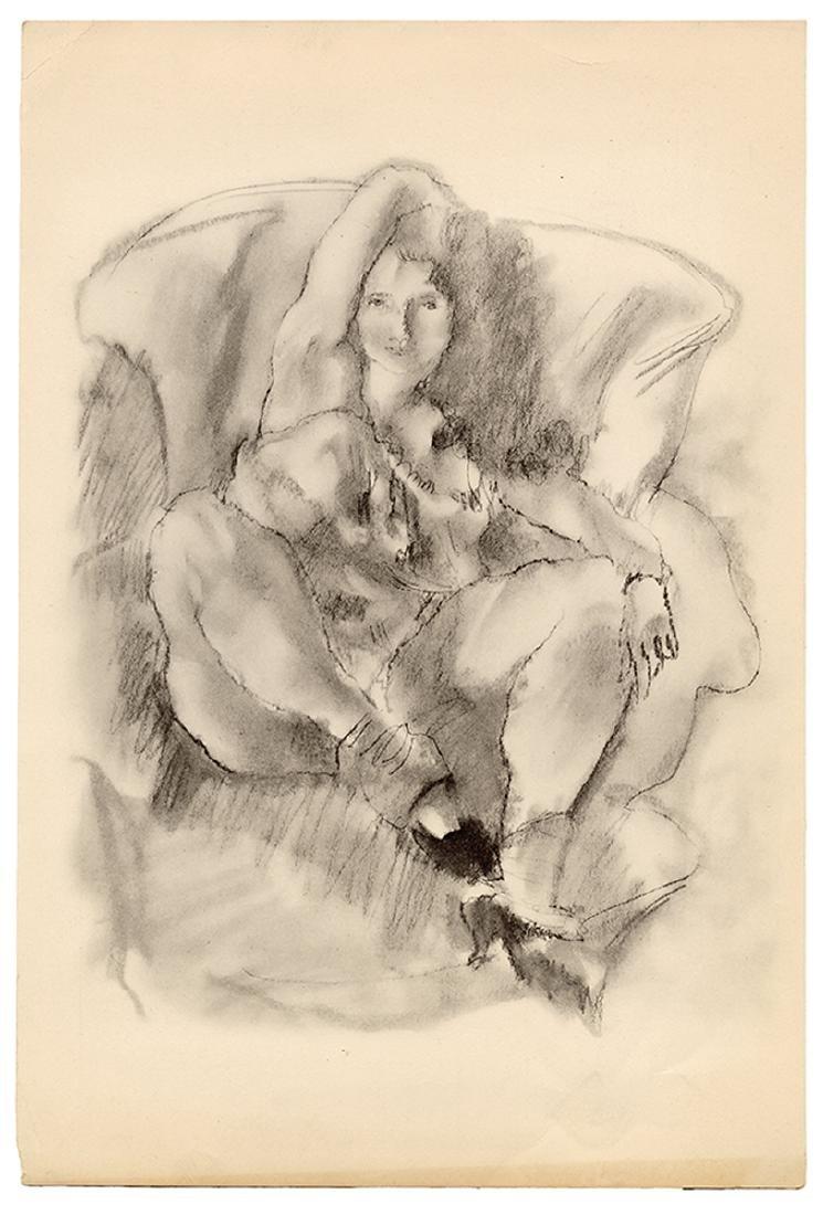 Three Nude Drawings.