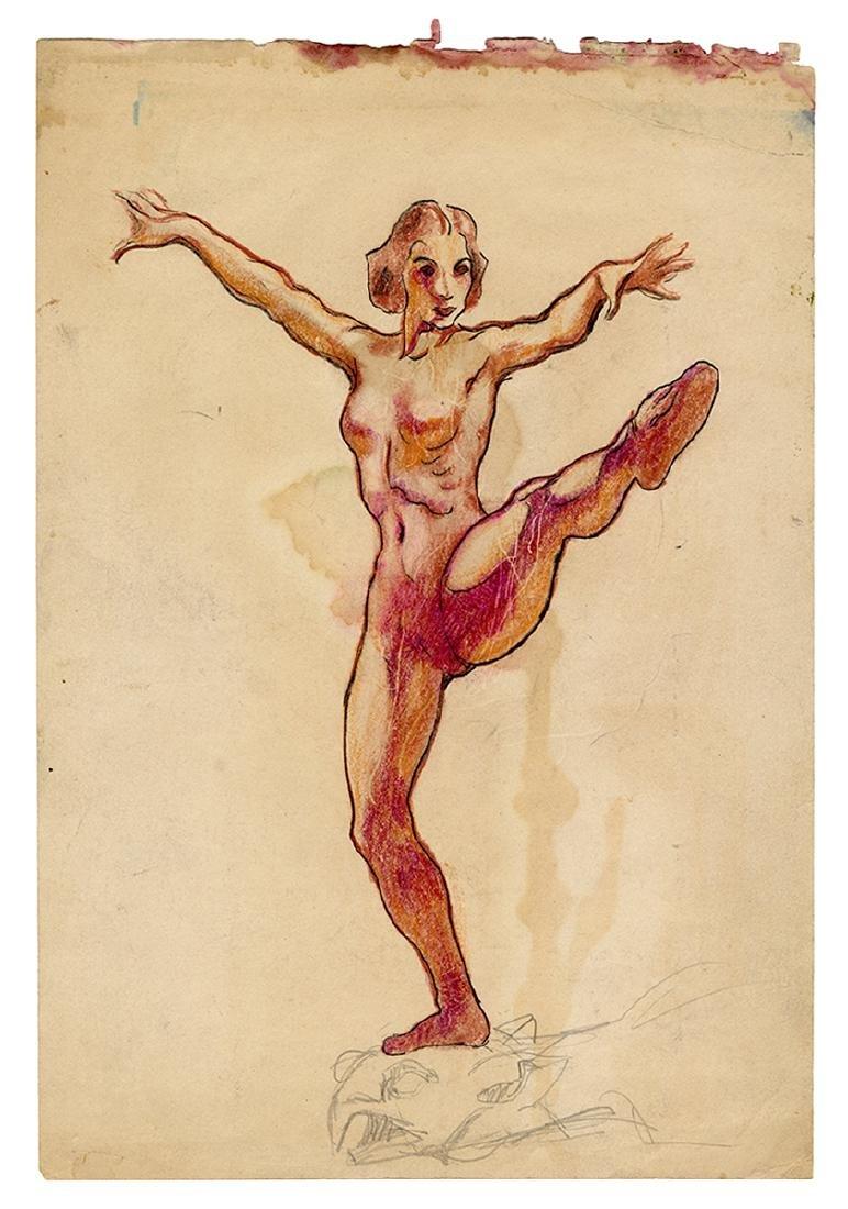 Three Nude Drawings. - 2