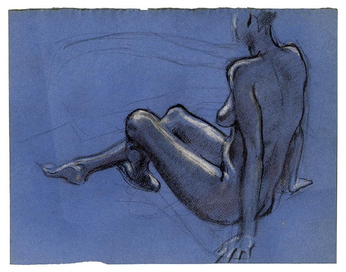 Three Nude Drawings. - 3