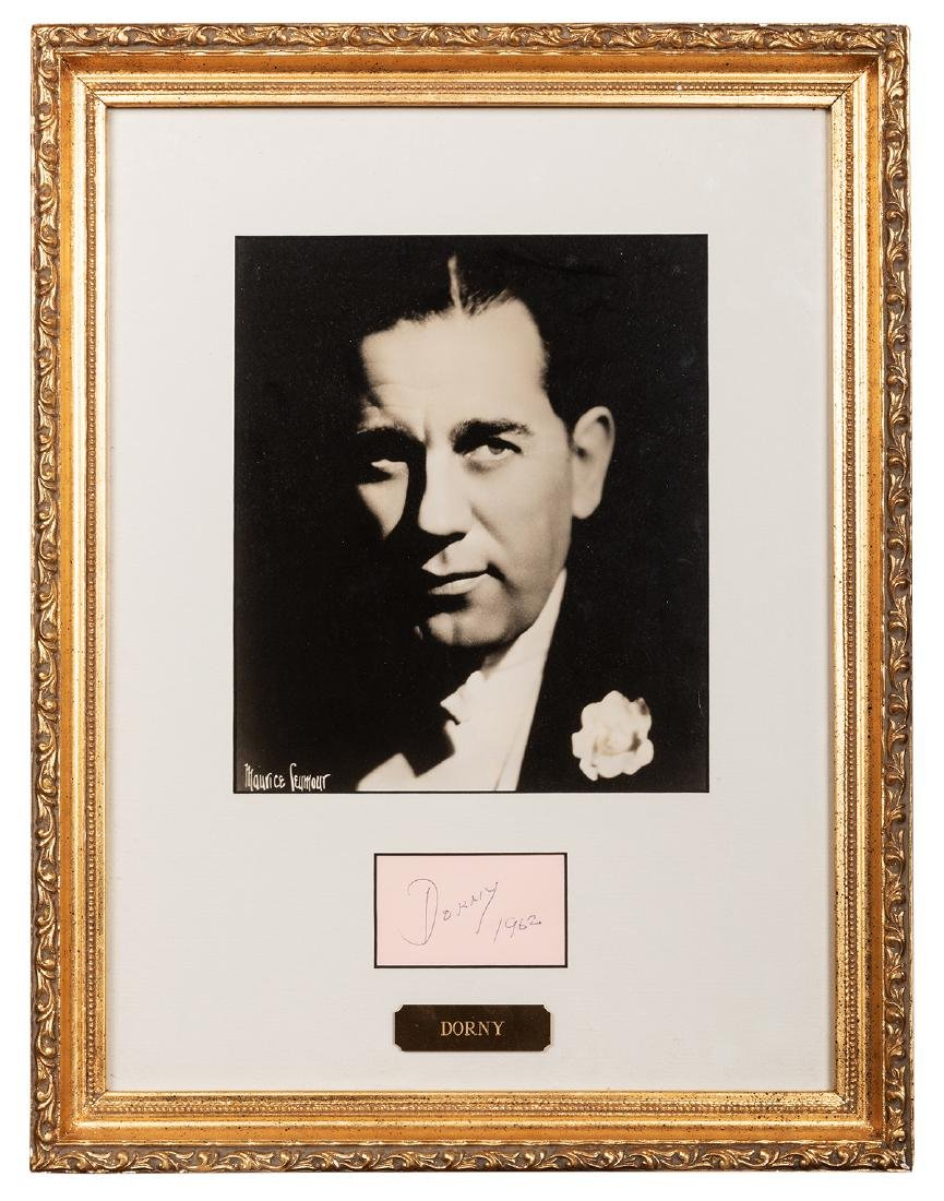 Framed Portrait and Autograph of Dorny.